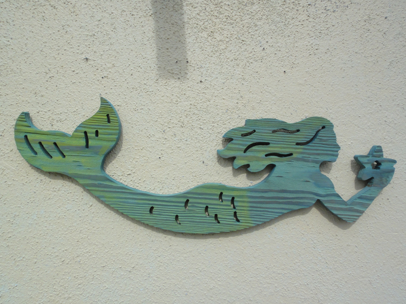 Routed Wood Mermaid Wall Hanging Nautical Art Home Bar