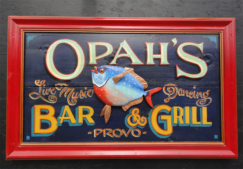 Opah S Bar Amp Grill Hand Painted Sign Nautical Art